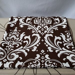 """Brown & Ivory Cotton Canvas Fabric 1.75y X 54"""""""